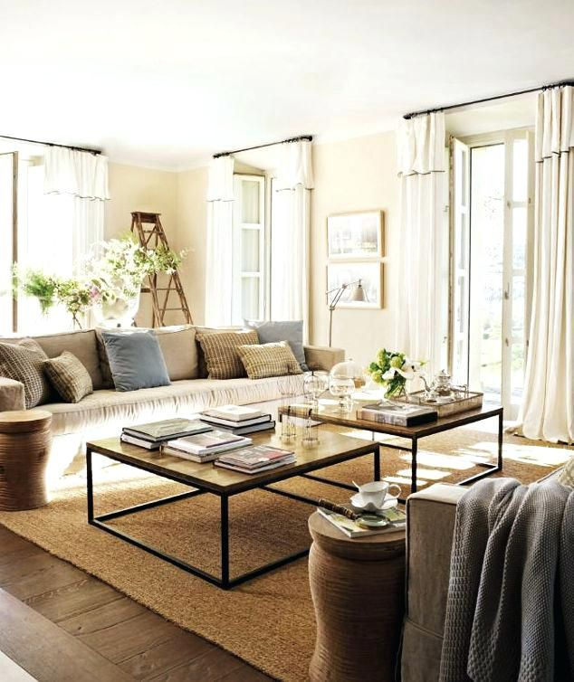 Enchanting Two Coffee Tables Living Room And 24 Awesome