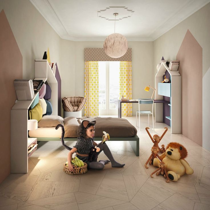 Adventurous spaces In our Kids bedrooms you can live extraordinary experiences! Discover more about #BECOMING KIDS. Get your digital copy! #homedecor #kids #kidsbedroom #bedroom #home #interior
