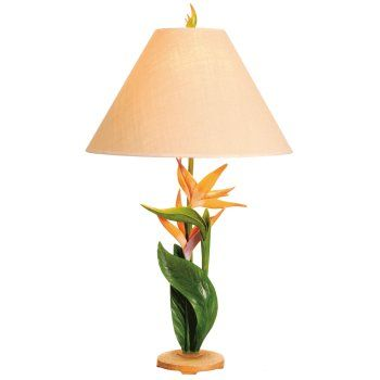 """Our collection of beach lamps feature coastal designs with beach style.  This coastal lamp base has bird of paradise flowers.  It is a stylish piece that provides a fun coastal accent for any room.   Special feature is the Bird of Paradise.   Lamp Measures:32 inch H  Shade Measures:5 x16 x11"""""""