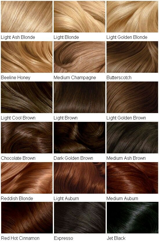 Hair colour chart                                                                                                                                                                                 More