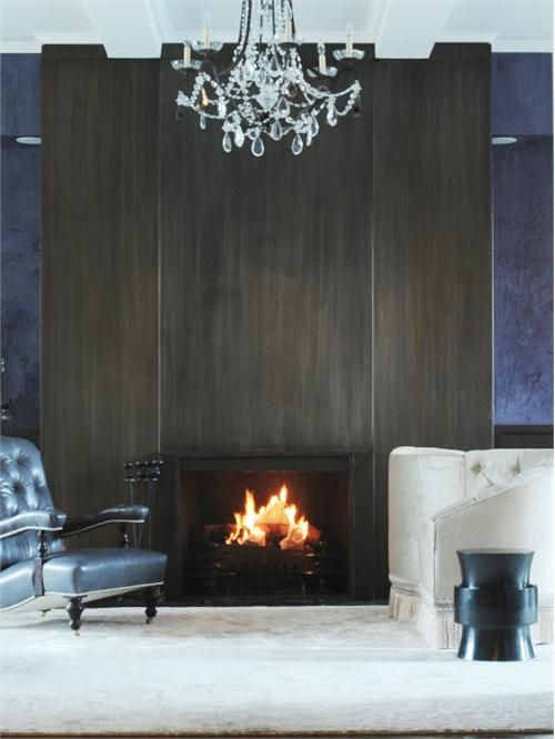 Blackened Steel Fireplace By Aguirre Design Inc On