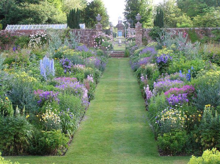Bramdean House -  SO24 0JU  Herbaceous border in walled garden