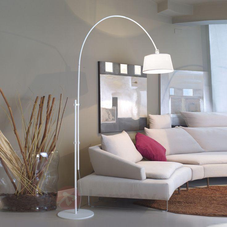 Rise duża biała lampa w kształcie łuku 2018057