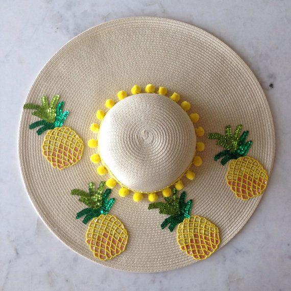 Sombrero de sol de la mujer de piña