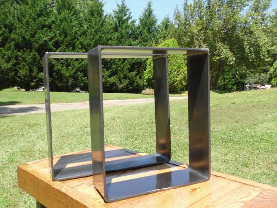 Rounded Square Flat Metal Legs By CarbonSyndicate On Etsy 12500 Come Clear Coated