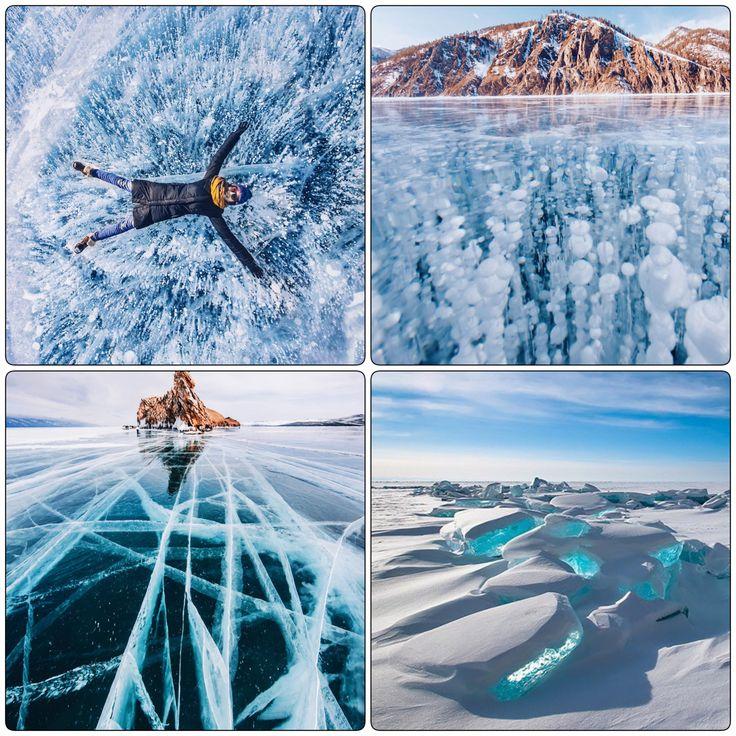Het Baikalmeer in Rusland is het gehele jaar mooi. In de winter is hier een wonderlijk schouwspel zichtbaar. Het meer bevriest dan en brokken ijs komen dan door de druk van het ijs omhoog. Ook zijn er vaak grote scheuren en vreemde methaanvormen te zien.