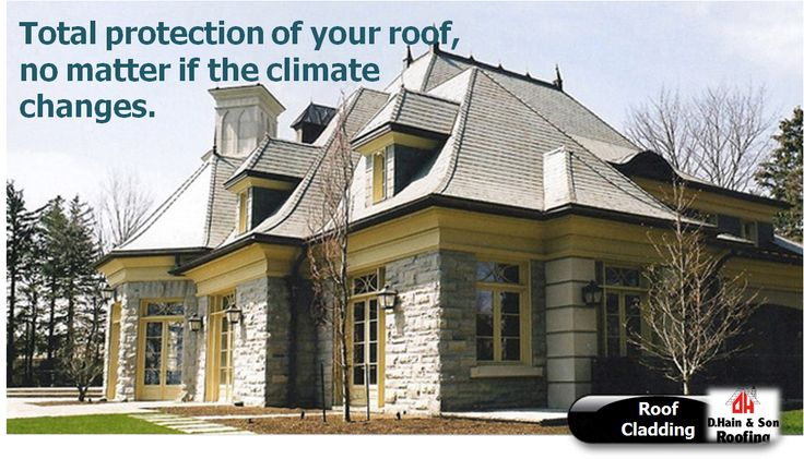 Total protection of your roof, no matter if the climate changes. #Roof #cladding protects you roof from different weather attacks.