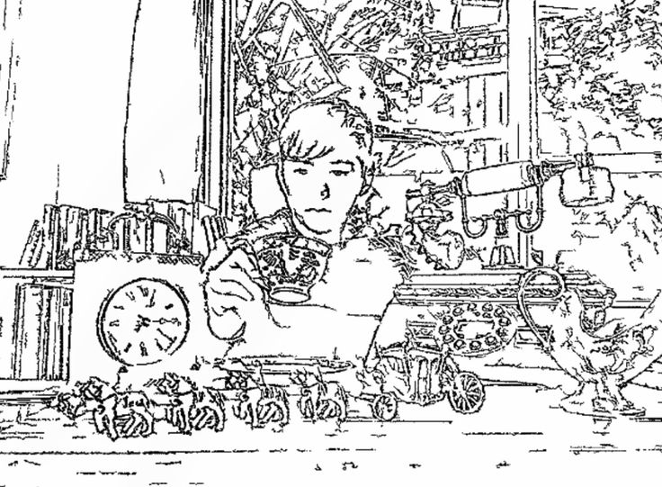 Noah Edward book Colouring in picture