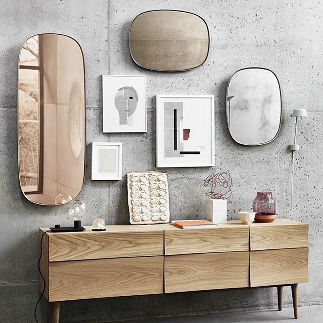 Mirrors, mirrors on the wall, who's the best tinted of them all?! New tinted round-edged mirrors by @anderssenvoll for @muutodesign  presented at @isaloniofficial this spring // Which tint would you go for? #mirror #wallmirror #tint #muuto #andersenvoll #interior #interiør #interiors #homedecore #concrete #oak #scandinavian #design #minimal #minimalism #minimalist #simplicity