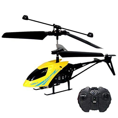 Yistu RC 901 2CH Mini hélicoptère Radio Télécommande Avions Micro 2 Canaux (Jaune): Hauteur de vol: 20m. Matière: Métal + plastique ABS…