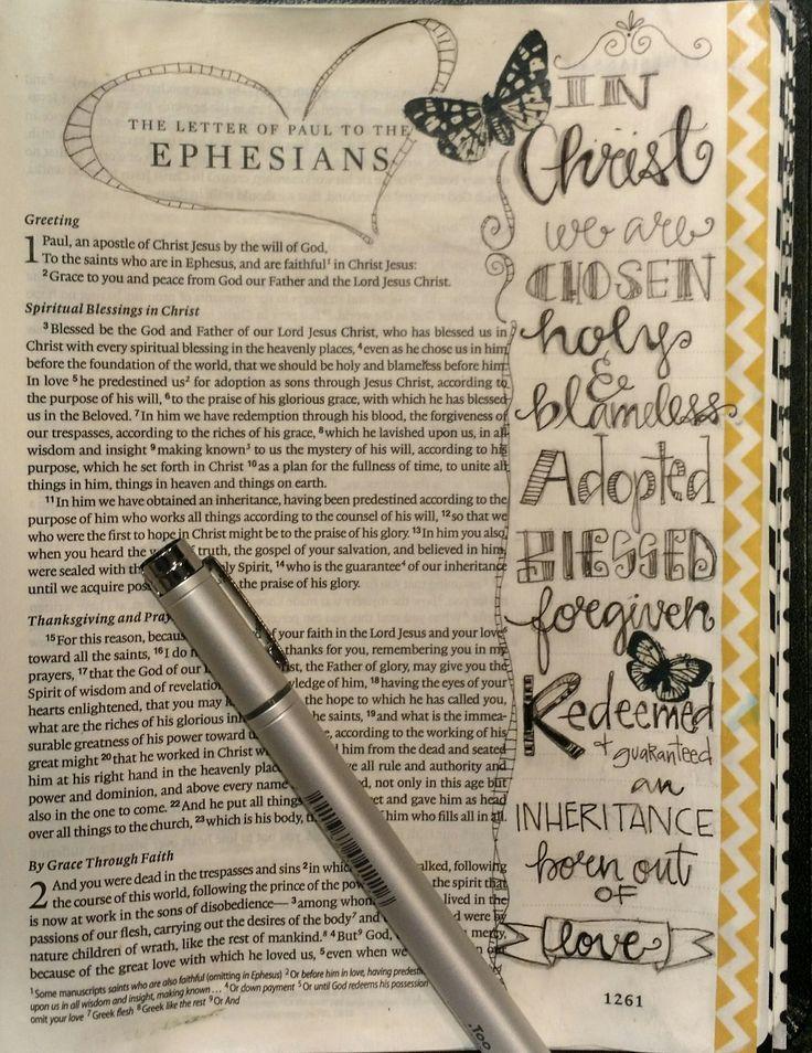 Bible Art Journaling/Ephesians 1/ Sue Carroll
