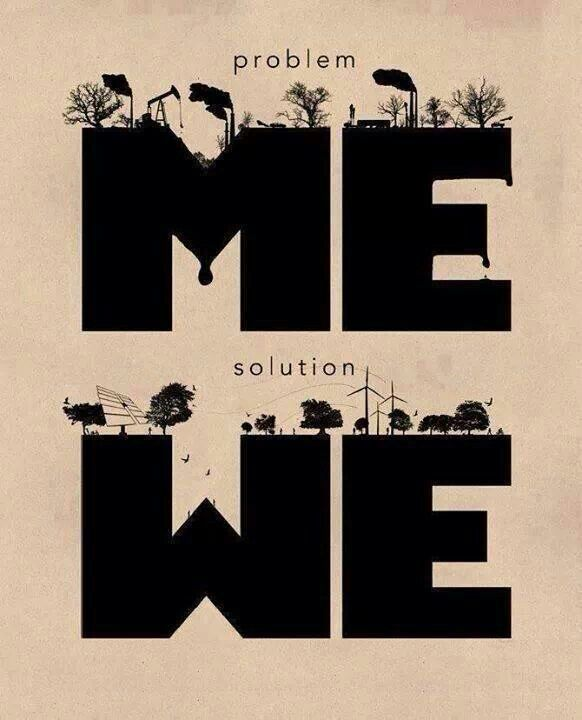 We are the problem and we are the solution.