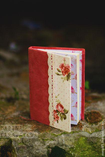 Блокнотик с розами - коралловый,блокнот,блокнот ручной работы,блокнот в подарок