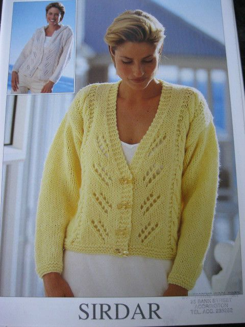 Sirdar Ladies Knitting Patterns : Sirdar knitting pattern 5831 ladies cardigans 32 - 42