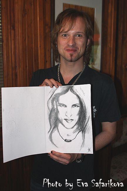 Tobias Sammet and my gift by lara39