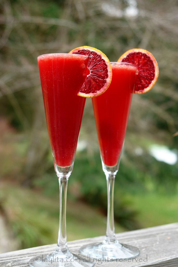 Blood orange campari cocktail