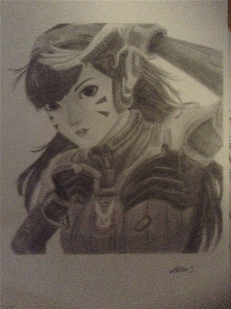 Overwatch-D.va drawing