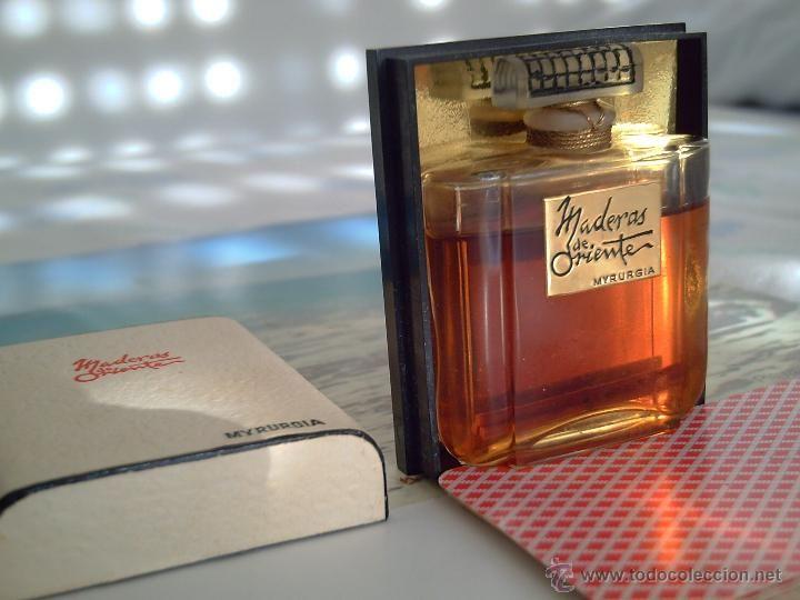 Antiguo frasco de extracto esencia perfume maderas de - Botellas para perfumes ...
