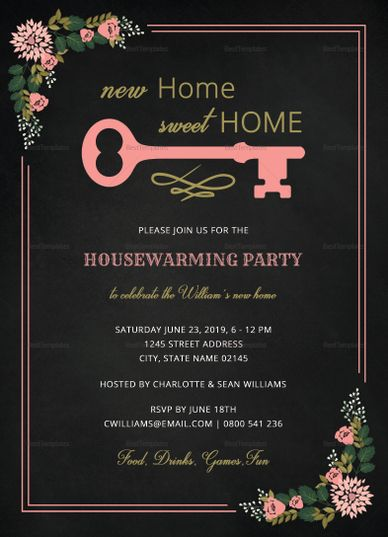 410 best invitation card templates images on pinterest card chalkboard housewarming invitation design template stopboris Image collections