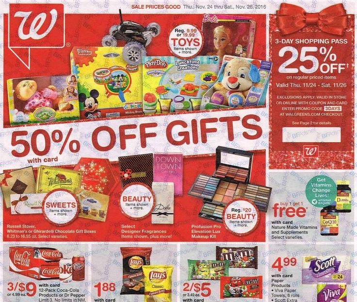 Walgreens Black Friday Ad 2016