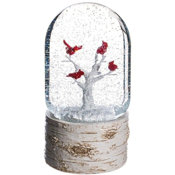 Women's Allstate Cardinal Musical Snow Globe (€37) ❤ liked on Polyvore featuring home, home decor, holiday decorations, music snow globe, rustic holiday decor, winter snow globe, mini snow globes and cardinal snow globe