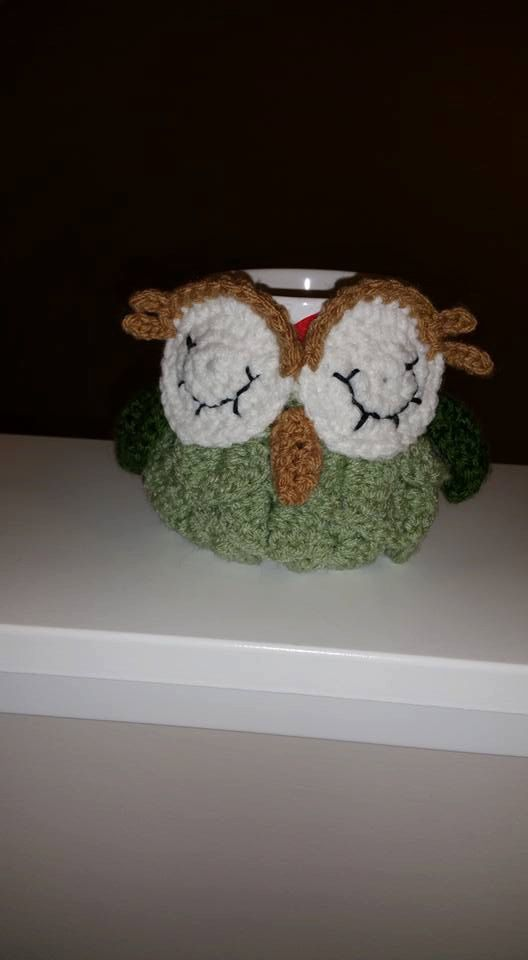 Cup Cozy Mug Cozy Crochet Owl Cup Cozy by ButterflyStitches16