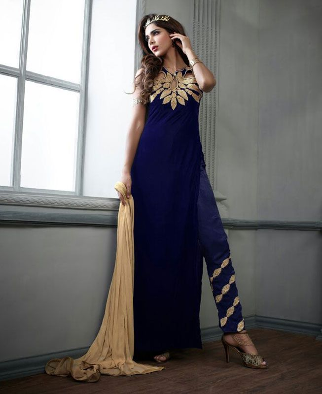 Buy Pleasing Blue Party Wear Salwar Kameez online at  https://www.a1designerwear.com/pleasing-blue-party-wear-salwar-kameez  Price: $72.73 USD
