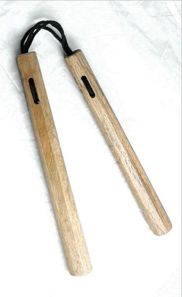 The nunchaku is a favorite weapon of karate masters such as Fumio Demura. He is the author of several nunchaku books & DVDs at http://store.blackbeltmag.com/s/nunchaku?filterby=categorytype&begin=1&end=1 Or click on http://www.blackbeltmag.com/daily/martial-arts-weapons/blunt-weapons/nunchaku-training-how-to-use-nunchaku-techniques-against-a-knife-wielding-attacker/ for  a quick lesson in nunchaku self-defense. #blackbeltmagazine #nunchaku #martialarts #weapons #fumiodemura…