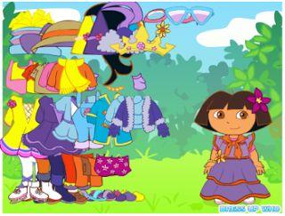 Actividades para Educación Infantil: Dora disfrazada DORA DRESS UP GAMES