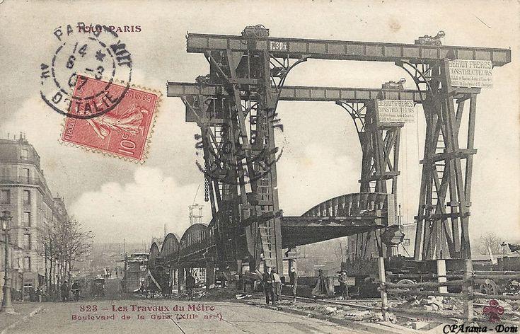 190... travaux du métro aérien bd de la Gare (XIII eme)