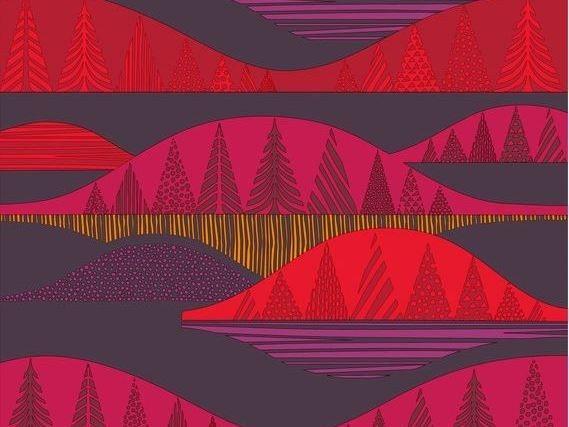 Tessuto stampato in cotone KULTAKERO by Marimekko