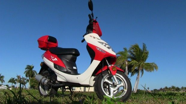#Jinlun #JL50QT-5 Inexpensive #Chinese #Scooter 0-16 MPH Ride and #Review