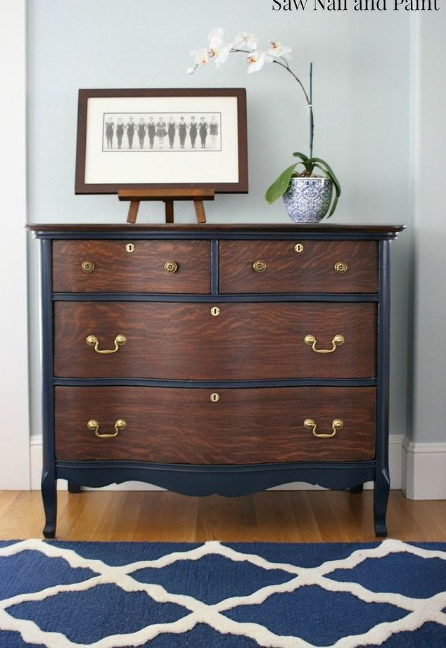 vintage dresser restoration before and after, painted furniture, repurposing upcycling