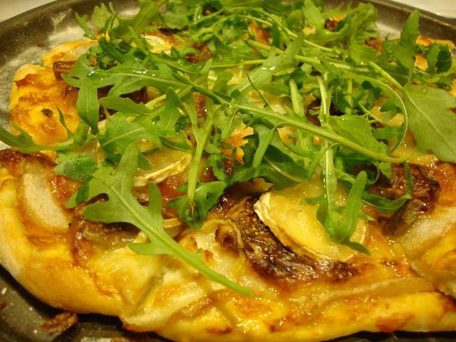 As Minhas Receitas: Pizza de Figos, Pêra e Queijo de Cabra