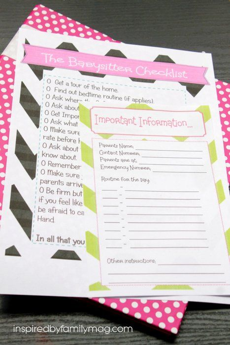 How to Be a Great Babysitter Tips & Babysitter Checklist Printables! What are some things that have really stood out to you in the past that a babysitter has done? #ad