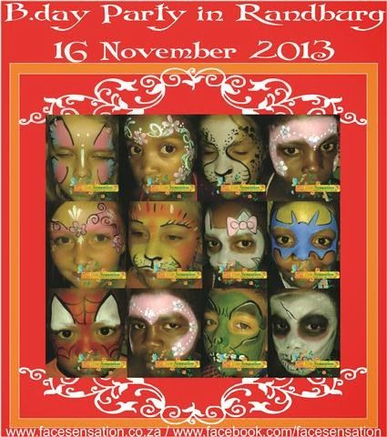 Face-Sensation Facepainting: Last lot of 2013