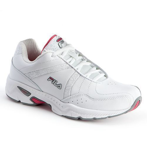 fila for women. fila womens athletic shoes admire leather sneakers white pink size 11 4e new for women
