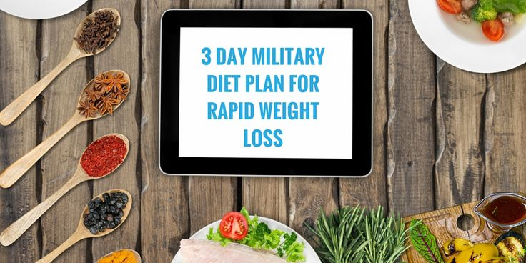 3 Day Military Diet Plan for Rapid Weight Loss