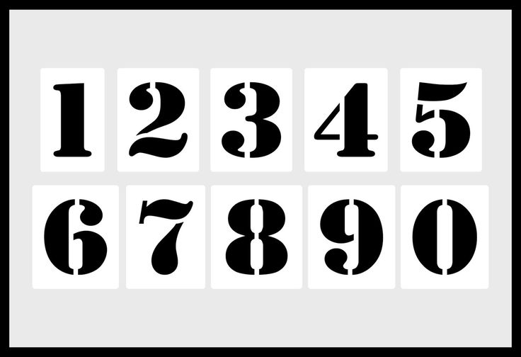 zahlenschablone • 10cm hoch set nr5 • 10 einzelne