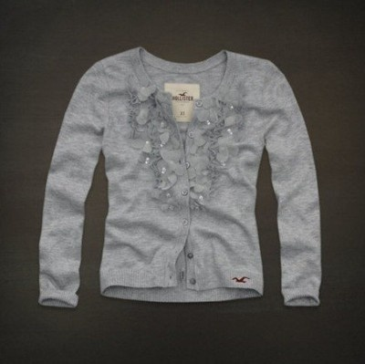 Hollister Embarcadero gray embellished cardigan love it!