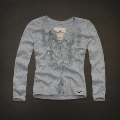 Hollister Embarcadero gray embellished cardigan