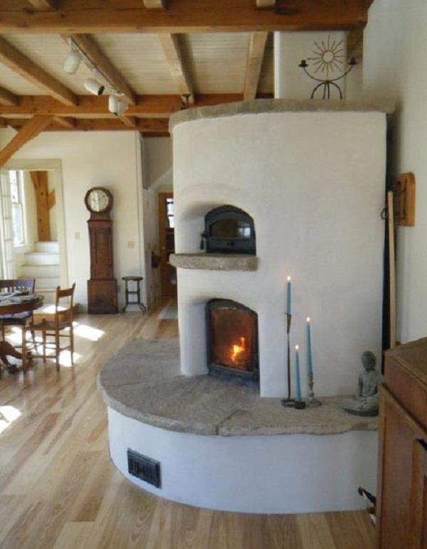 cob house fireplace