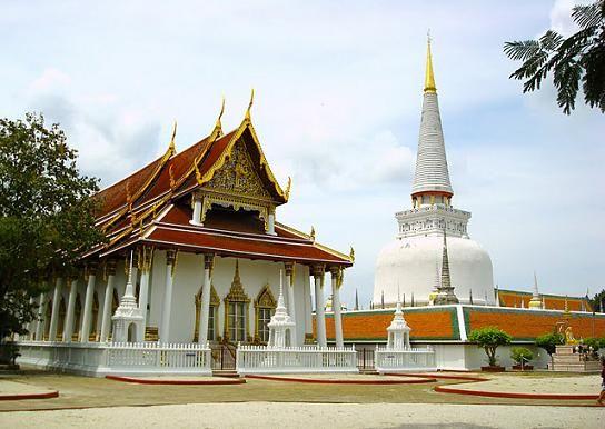 Wat Phra Mahathat Temple at Nakhon Si Thammarat in Southern Thailand