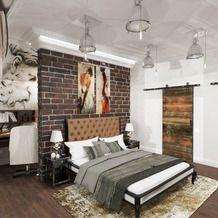 Фото из портфолио Дизайн спальни с террасой и прихожей в частном доме – фотографии дизайна интерьеров на InMyRoom.ru
