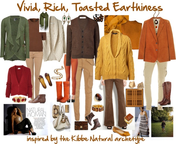 """""""All Natural: Vivid, Rich, Toasted Earthiness"""" by jeaninebyers on Polyvore"""