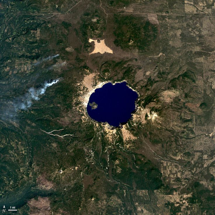 Crater Lake, Oregon | 27 Stellar Photos Of Earth Taken From Space