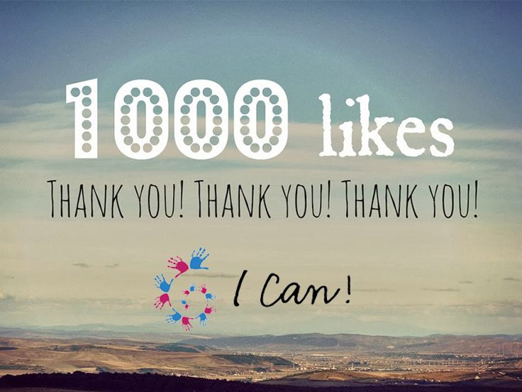 We have reached 1000+ likes. Thank you, thank you, thank you, to all of our fans for your support!