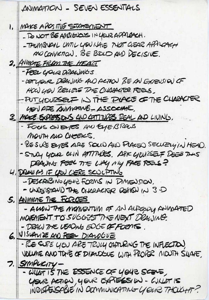 THE ART OF GLEN KEANE.: GLEN KEANE´S NOTES (4)