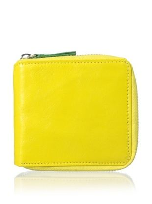 54% OFF Tusk Women's Siam Zip French Wallet, Lemon/Jade
