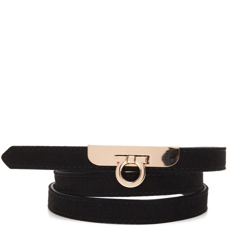 Black slim belt